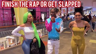 Finish The Rap Oŗ Get Punished 1 🤕🔥Atlanta Mall Edition | Public Interview