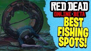 BEST SPOTS TO FISH IN RED DEAD REDEMPTION 2 ONLINE   RDR2 Best Spots to Make Money!