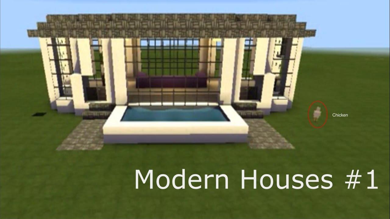 Large Modern House Tutorial Minecraft PE YouTube