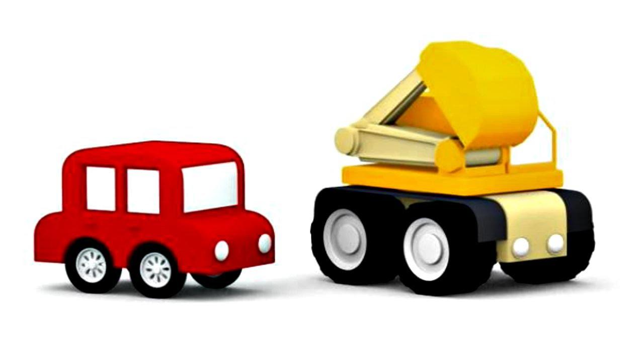 lehrreicher zeichentrickfilm die 4 kleinen autos bagger youtube. Black Bedroom Furniture Sets. Home Design Ideas