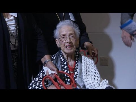Katherine Johnson, NASA mathematician, celebrates 100th birthday