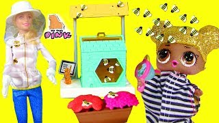 �������� ���� КУКЛА БАРБИ - ПЧЕЛОВОД! ПЧЕЛЫ ПРОТИВ ЛОЛ! Barbie and the Bees! Игры для Детей! Video for Kids ������