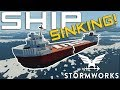 SPLIT IN HALF!  -  SINKING SHIP  -  Stomworks: Build and Rescue