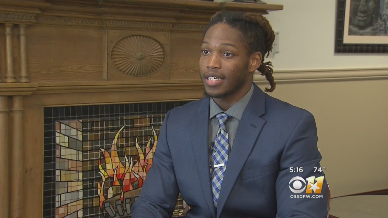 TCU Football Player Named Rhodes Scholar Finalist - YouTube