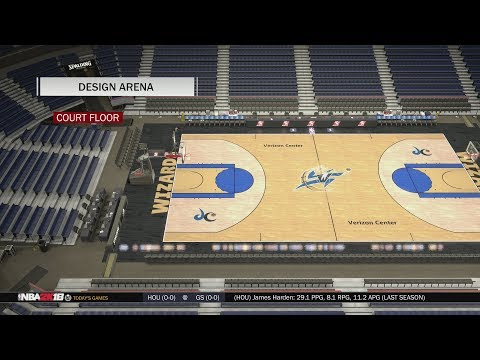 NBA 2K18 Arena Creation: Washington Wizards 2006 - 2011 (Verizon Center)