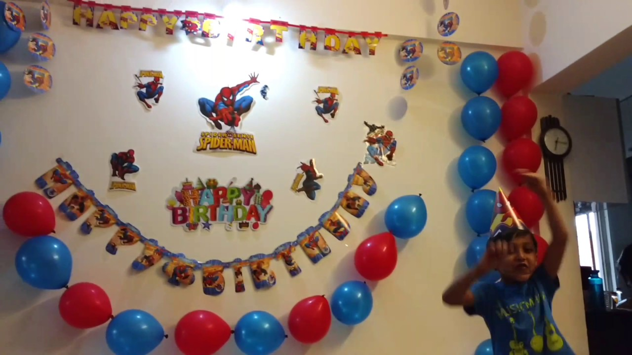 Spiderman Theme Birthday Party Decoration Youtube
