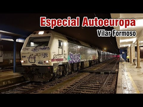 Comboio especial Autoeuropa em Vilar Formoso