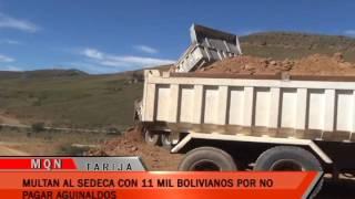 MULTAN AL SEDECA CON 11 MIL BOLIVIANOS POR NO PAGAR AGUINALDOS