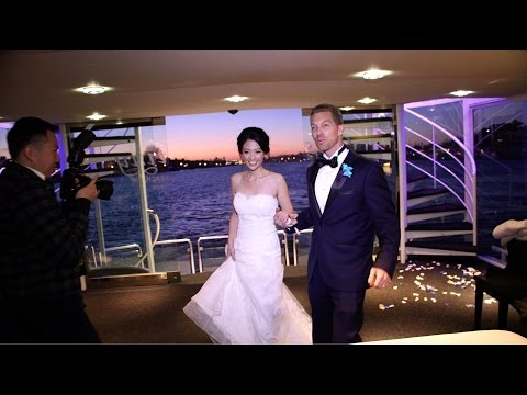 Wedding with Asian / American on Boat and wild break dancing!