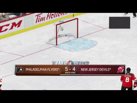 GAME 19 PHILADELPHIA FLYERS AT NEW JERSEY DEVILS THE NHL SEASON 3 2018