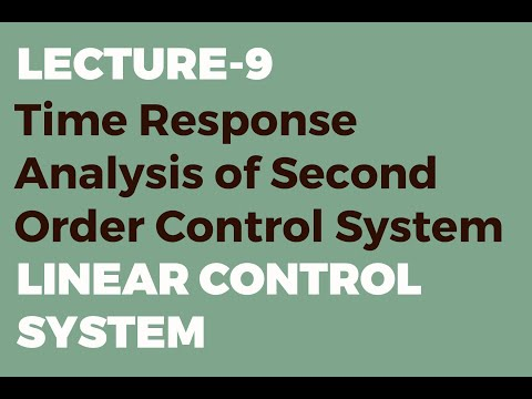 Time Response Analysis of Second Order Control System | Unit Step Input Function