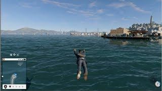 WATCH DOGS 2 PARKOUR LEAP OF FAITH IN THE WATER!