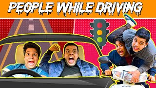 Types of People While Driving | The Half-Ticket Shows