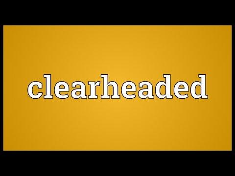 Header of clearheaded