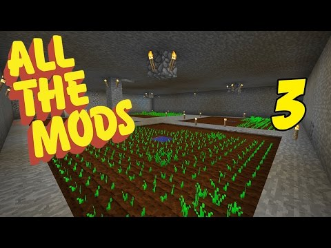 Modded Minecraft 1.10.2 All The Mods Episode 3 - New Hobbit Hole & Food Prep