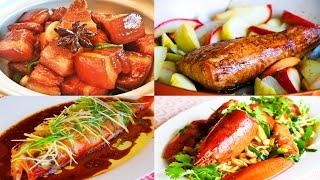 4道聖誕節和新年必吃的家庭食譜:紅燒肉 烤豬里肌 清蒸魚 龍蝦伊麵【美食天堂】家常料理食譜 一學就會