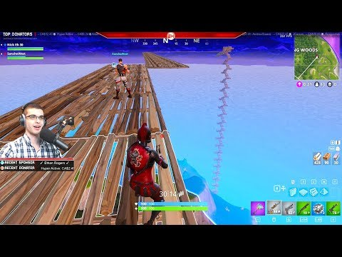 Jumping from the Sky onto a Launch Pad! (Nick Eh 30\'s BEST Fortnite Moments #2)