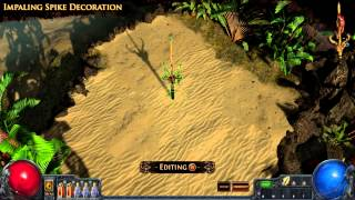 Path of Exile - Impaling Spike Hideout Decoration