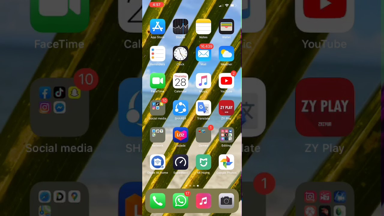 Any Iphone Full Screen Wallpaper With App Icon 2020 Youtube