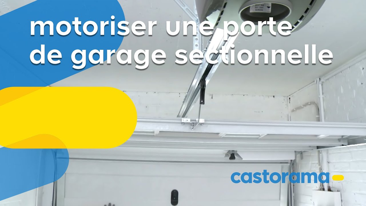 Motoriser une porte de garage sectionnelle castorama for Motoriser une porte de garage
