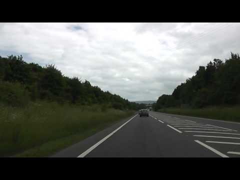 Driving On The A44 & A46 Between Twyford & Badsey, Evesham, Worcestershire, England 22nd June 2013