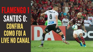 Flamengo 1 x 0 Santos: o time mais fraco igualou o bom jogo, decidido por um gol sensacional