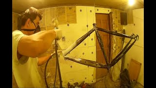 Как покрасить велосипед своими руками в гаражных условиях? Видео-урок пошаговой покраски