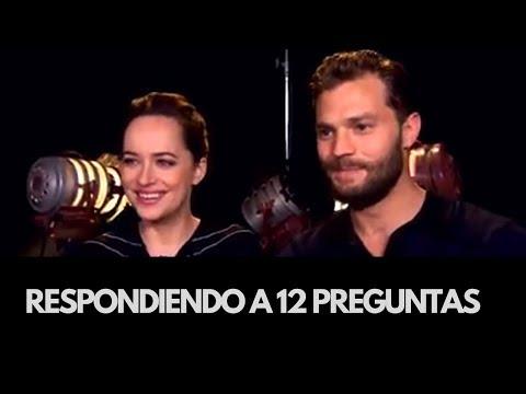 Respondiendo a 12 Preguntas  Dakota Johnson y Jamie Dornan subtitulado