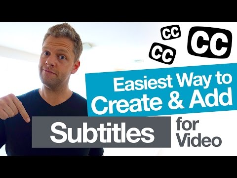 Easily Add Video Subtitles for YouTube! and create accurate closed caption .SRT files