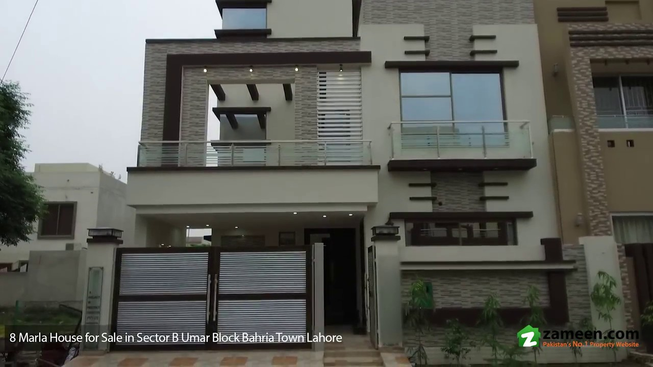 8 marla house is available for sale in umar block sector b for Home design 5 marla corner