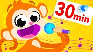 Monkey Sing Along| Learning & Counting with kids! Kids Songs | by Little Angel