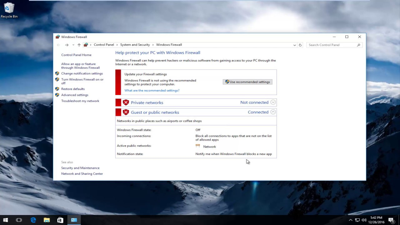 How To Turn On/Off Windows Firewall In Windows 10
