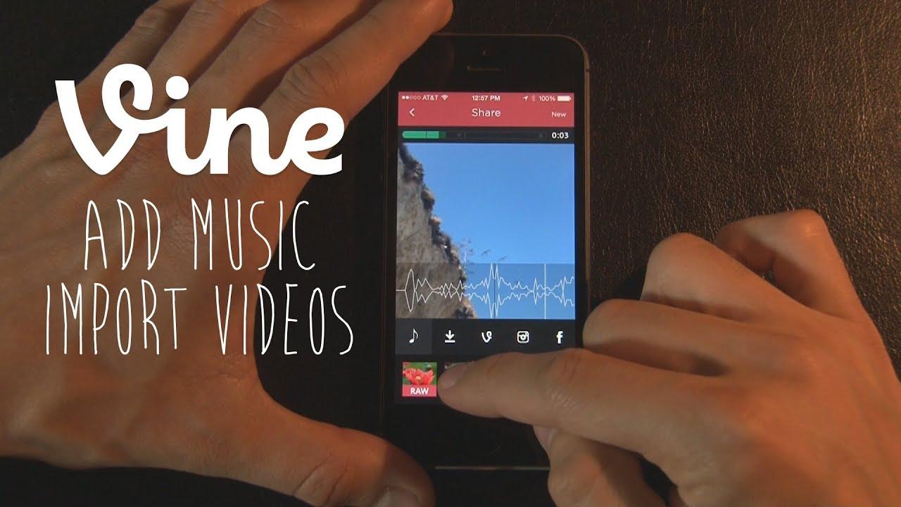 Vine Tips & Tricks  Import Videos & Add Music