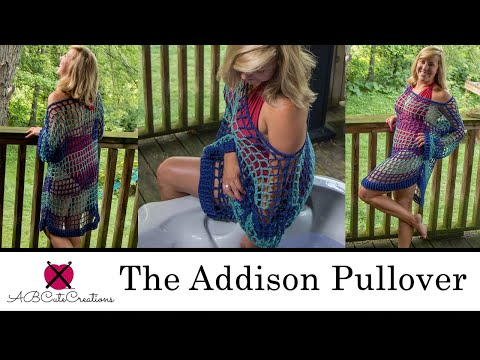 The Addison Pullover / Cover Up -- Perfect For Spring Through Fall | FREE Crochet Pattern Tutorial