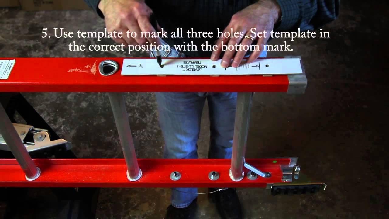 Levelok Permanent Mount Ladder Levelers Installation On
