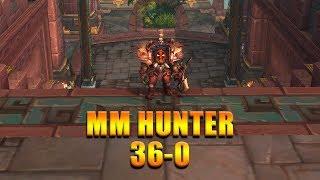 "MM Hunter 36-0 ""DESTROYING EVERYBODY""  BFA 8.2 PVP WoW - 4K UHD"
