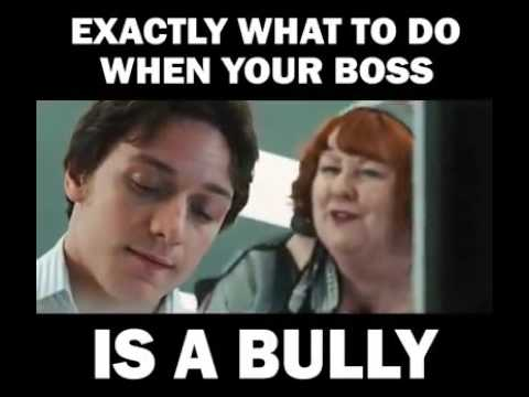 When your boss is a bully