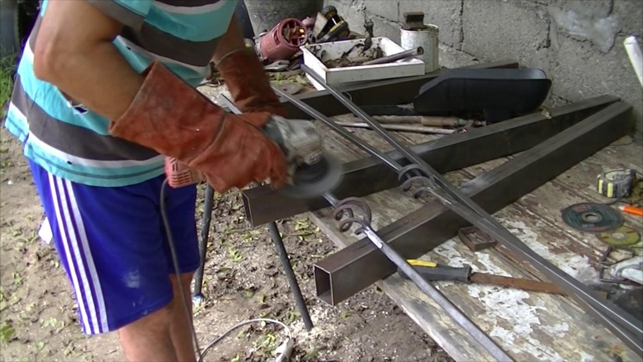 Como hacer cama de hierro - YouTube