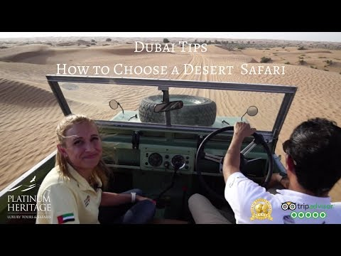 How to choose a desert safari - Dubai travel tips