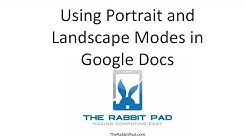 How to Change to Portrait and Landscape Mode in Google Docs