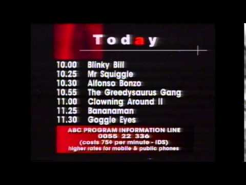 Abc Tv Morning Programme Schedules January 1996
