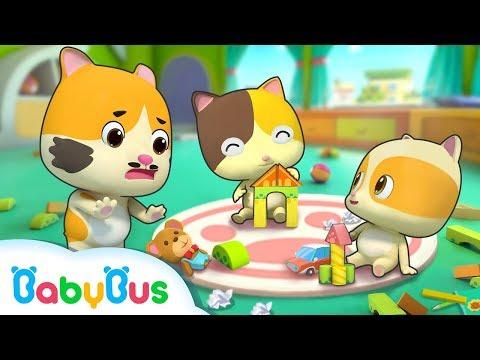 Clean Up Song | Kiki and Miumiu, Baby Kitten | Kids Safety Tips | Nursery Rhymes | BabyBus