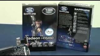 藍寶科技 sapphire ati radeon hd5450 1gb graphic card vedio review