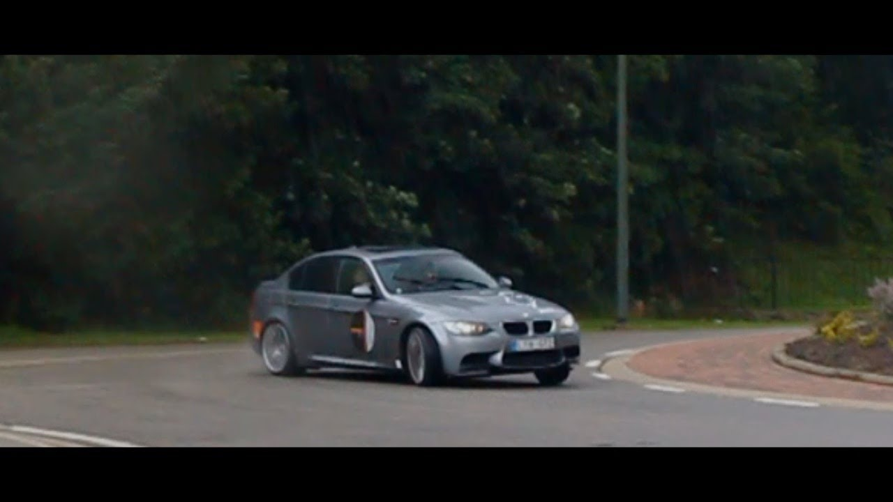 BMW M3 (E90) roundabout drifting @Francorchamps - YouTube