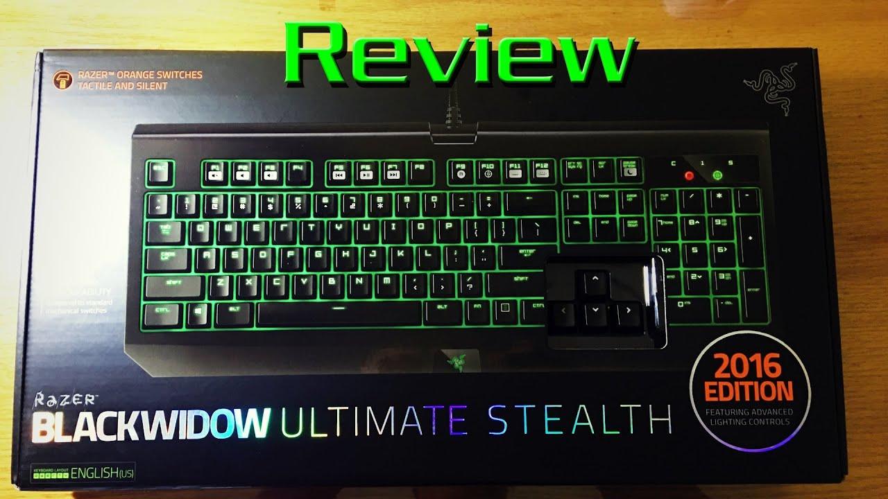 مراجعة Razer Blackwidow Ultimate Stealth 2016 Edition - YouTube