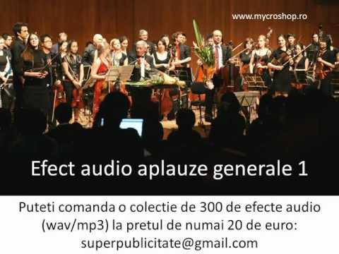 Efect audio aplauze generale 1. Applause sound effects.1