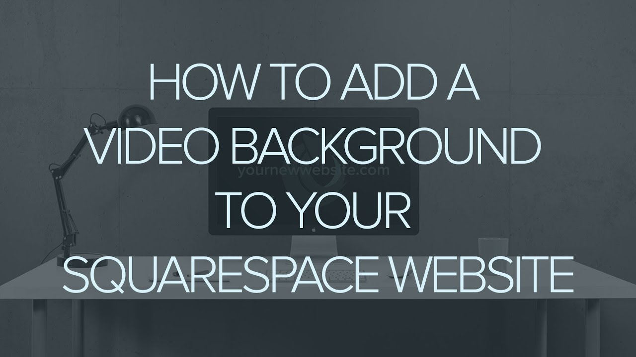 how to add a video banner to your squarespace website youtube. Black Bedroom Furniture Sets. Home Design Ideas