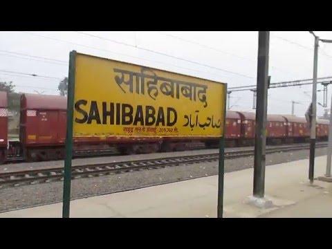 ER King 12301 Howrah Rajdhani express crossing Sahibabad railway station!