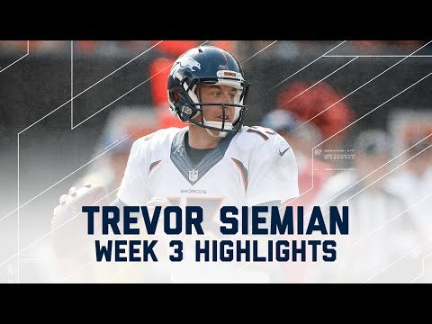 Trevor Siemian Highlights | Broncos vs. Bengals | NFL Week 3 Player Highlights