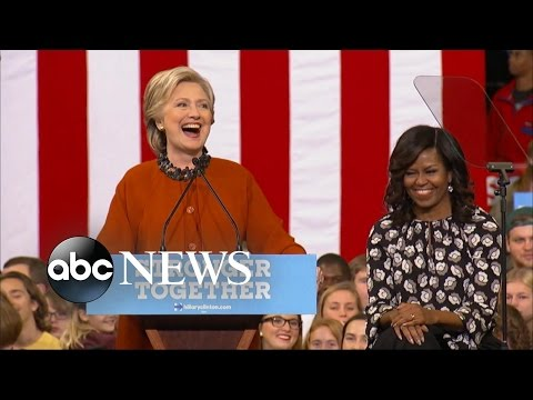 Michelle Obama Joins Hillary Clinton on the Campaign Trail